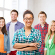 Group of students at school — Stock Photo #28819453