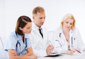 Team or group of doctors on meeting — Foto Stock