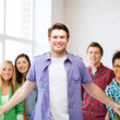 Group of students at school — Stock Photo #29245933
