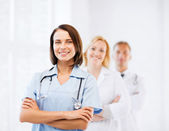 Group of medical workers — Stock Photo