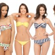 Group of model girls in bikinis — Stock Photo #29453233