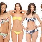 Group of model girls in bikinis — Stock Photo #29453233