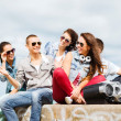 Group of teenagers hanging out — Stock Photo #29558075