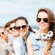 Teenage girl with friends outside — Stock Photo #29558085