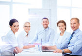 Business team having meeting in office — Stock Photo