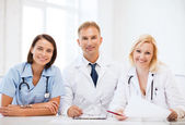 Doctors on a meeting — Stock Photo