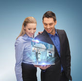 Business team with tablet pc — Stock Photo