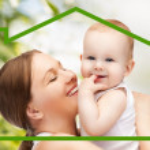 mère heureuse avec bébé adorable — Photo
