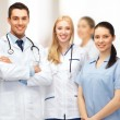 Stock Photo: Young team or group of doctors