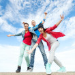 Group of teenagers dancing — Stock Photo #30552803