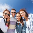 Group of teenagers outside — Stock Photo #30553391