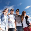 Group of teenagers outside — Stock Photo #30553425