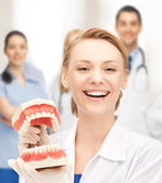 Doctor with big jaws — Stock Photo