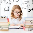 Student girl studying at school — Stockfoto #30594897