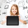 Girl with tablet pc at school — Stock Photo #30594909