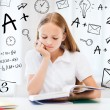 Student girl studying at school — Stock Photo #30595065