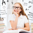 Student girl studying at school — Stockfoto #30595097