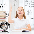 Student girl studying at school — Stock Photo #30595111