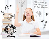 Student girl studying at school — Stockfoto