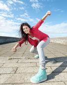 Schöne tänzerin in bewegung — Stockfoto