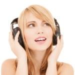 Happy girl with headphones — Stock Photo #30812733