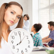 Stock Photo: Student showing clock