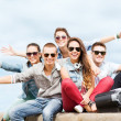 Group of teenagers hanging out — Stock Photo #31317277
