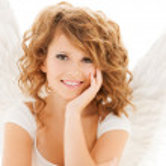Happy teenage angel girl — Stock Photo #31317327
