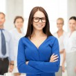 Smiling businesswoman — Stock Photo