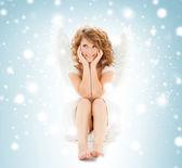 счастливый ангел подростковой девушка — Стоковое фото