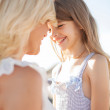 Happy mother and child girl — Stock Photo