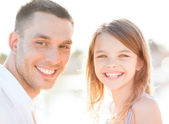 Happy father and child girl having fun — Stock Photo