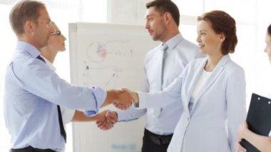 Business handshake — Stock Video