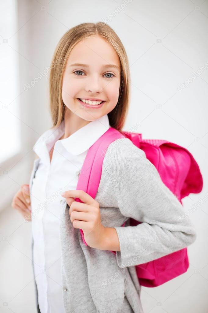 Happy And Smiling Teenage Girl Stock Photo Syda