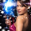 Woman with cocktail — Stockfoto #32677077
