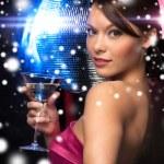 žena s koktejlem — Stock fotografie