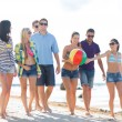 Group of friends having fun on the beach — Stock Photo #32677603