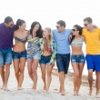 Group of friends having fun on the beach — Stock Photo #32677871