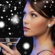 Woman with cocktail — Stock Photo #32678239
