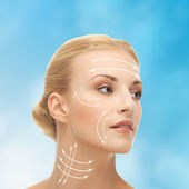 Woman ready for cosmetic surgery — Stock Photo