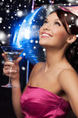 Woman with cocktail — Foto Stock