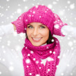 Womin hat, muffler and mittens — Stock Photo #32836503