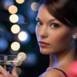 Woman with cocktail — Stock Photo #33001651