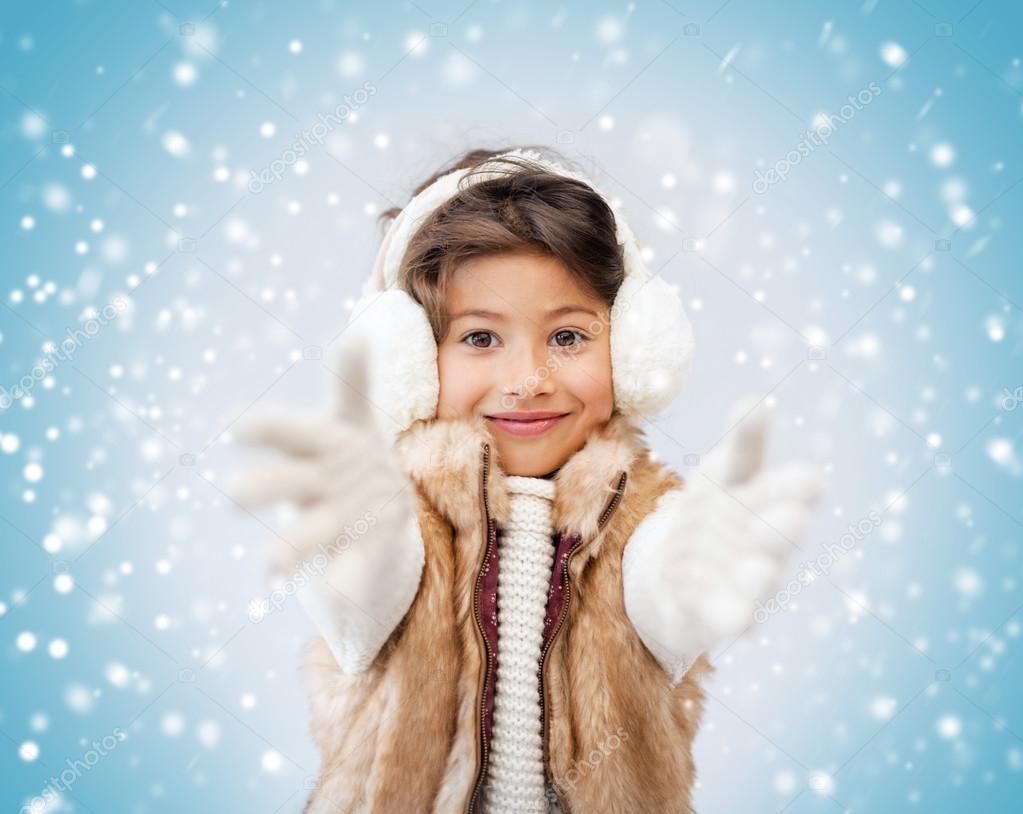 девочек зима
