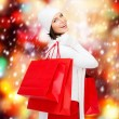 Picture of happy woman with shopping bags — Foto Stock