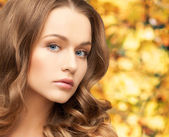Beautiful woman with long hair — Stock Photo