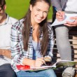 Group of students or teenagers hanging out — Foto Stock