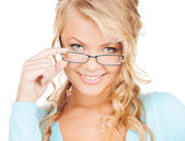 Woman with eyeglasses — Stock Photo