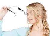 Woman with eyeglasses — Stock Photo