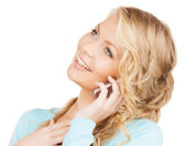 Businesswoman with cell phone calling — Stock fotografie